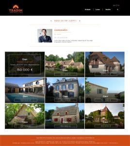 tradim, agence, immobilier, orléans, maison, vente, graphisme, web, site internet