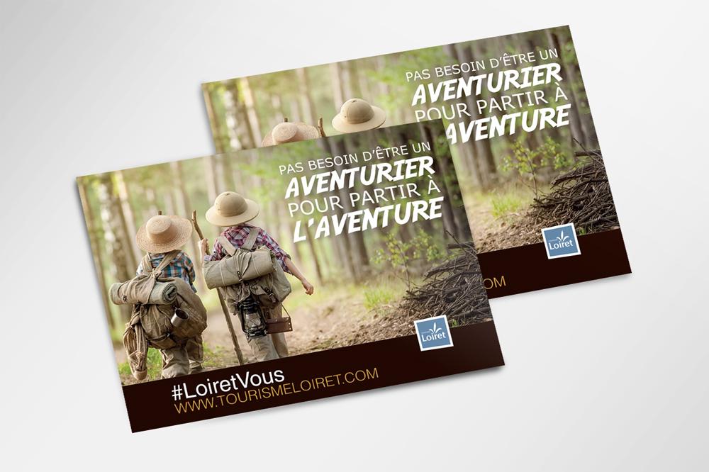 Exemple de campagne mise en place pour l'Agence Départementale de Réservation Touristique - Réalisation Agence des Monstres