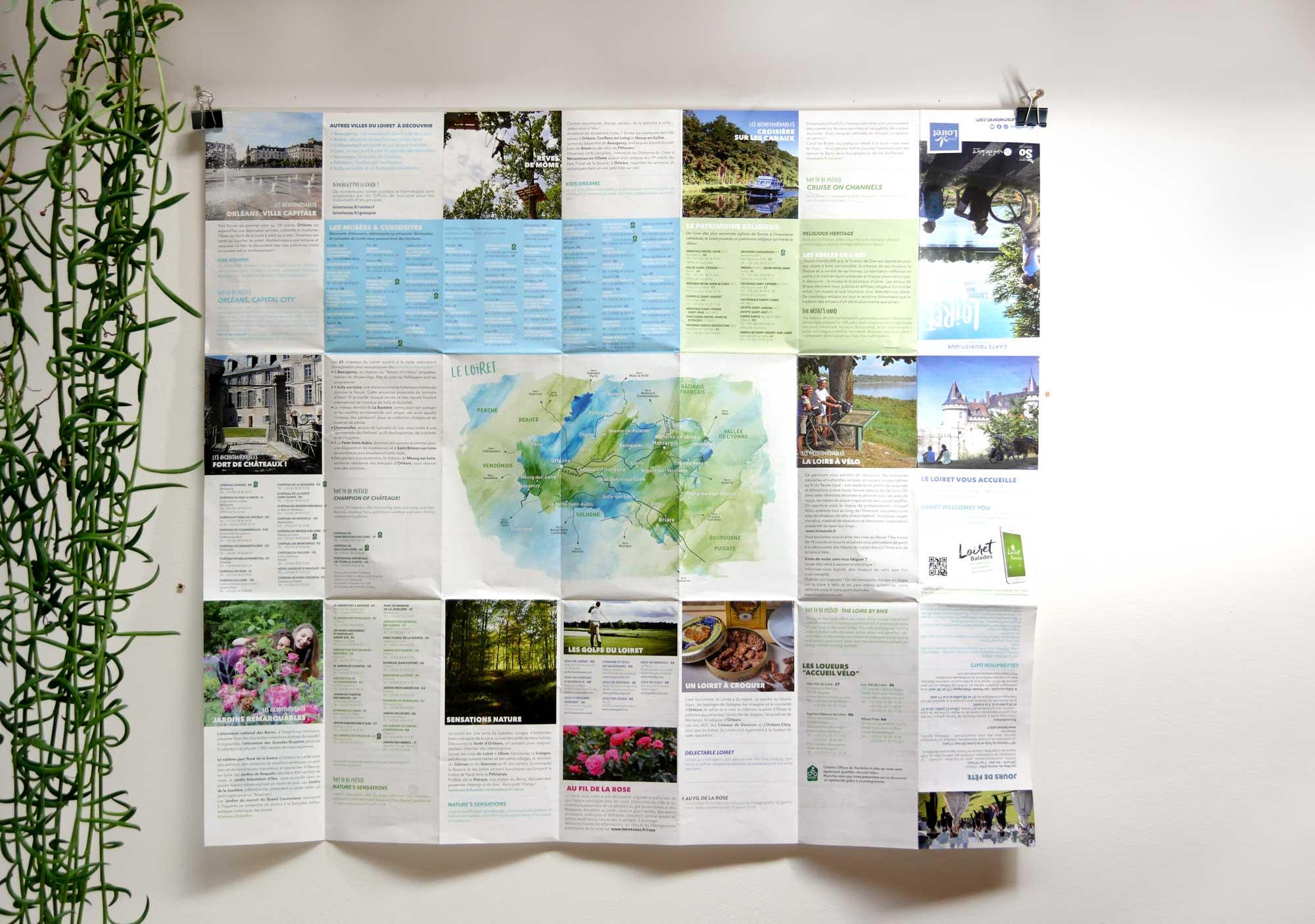 Intérieur de la carte touristique du Loiret - Réalisation Agence des Monstres