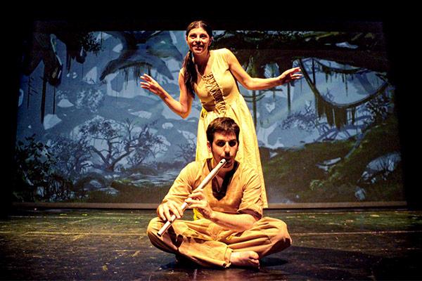 Réalisation de décors illustrés pour une mise en scène au théâtre d'Orléans, digital painting réalisés par l'Agence des Monstres