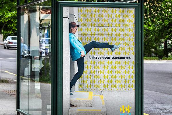 Création d'une campagne de communication et d'une identité déclinable pour le réseau de bus vendômois MOVE par l'Agence des Monstres