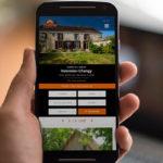 Création d'une identité visuelle avec un principe graphique de déclinaison ainsi que d'un site internet responsive pour Tradim immobilier, agence immobilière basée à Gien près d'Orléans par l'Agence des Monstres.