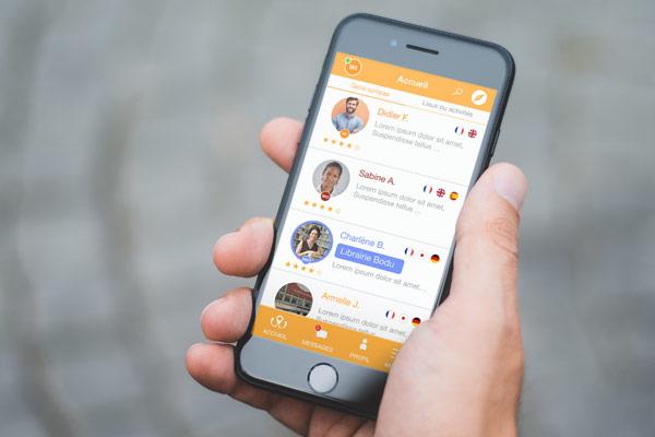 Réalisation d'une identité graphique et d'un habillage graphique pour la communication de Welcoming France ainsi que la création d'une application mobile par l'Agence de stratégie et de communication Des Monstres