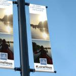 Réalisation d'une campagne graphique d'affichage pour Toursime Loiret ou l'ADRT Loiret à Orléans avec Kakemono affiche et flyers par l'Agence des Monstres
