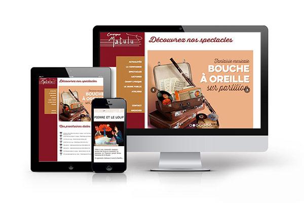 Réalisation d'un site internet responsive et d'illustrations pour des affiches et flyers pour la compagnie de théâtre Matulu basé à Orléans par l'Agence des Monstres.
