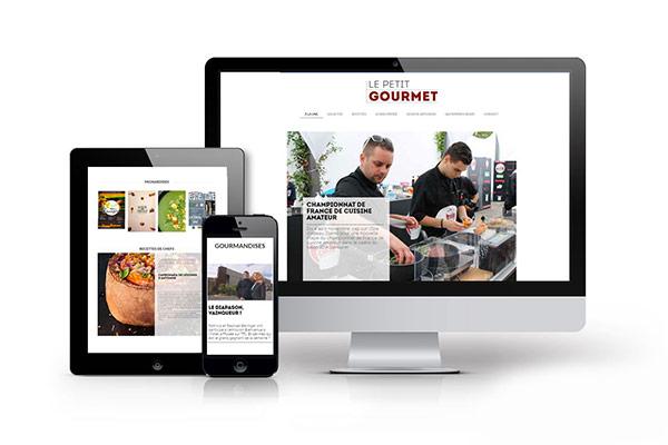 Le Petit Gourmet est un magazine sur la cuisine en Auvergne pour lequel nous réalisons des illustration pour leur mise en page, et la création d'un site internet responsive.