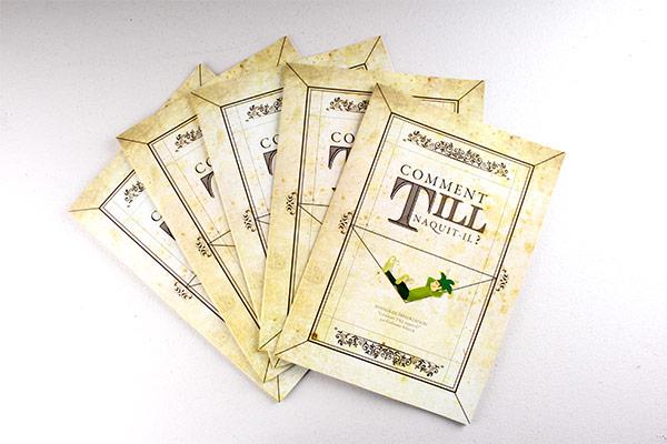 Création d'un univers visuel pour un dossier de presse et une campagne pour le spectacle humoristique de l'artiste Till.