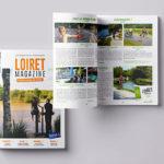 Mise en page du Loiret Magazine spécial été pour le Conseil Départemental du Loiret dont le graphisme et la réflexion ont été réalisé par l'Agence de communication Des Monstres à Orléans.