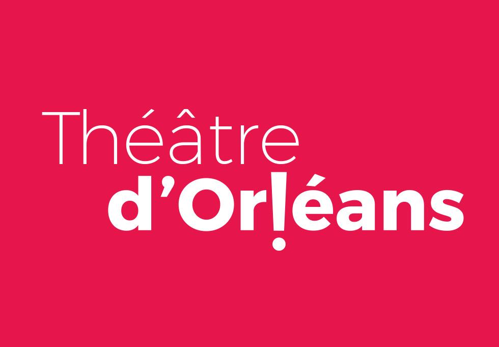 Proposition de logo pour le théâtre national de la ville d'Orléans qui joue avec le point d'exclamation pour rappeler l'émotion produite par un spectacle, réalisé avec de la Monserrat, une typographie moderne et élégante, cette identité a été créée par l'agence des monstres à Orléans.