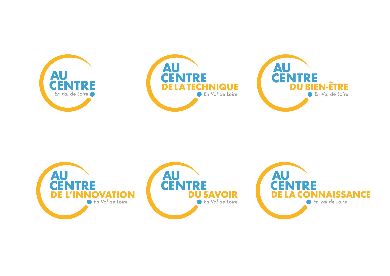 Logo Au Centre et ses déclinaisons