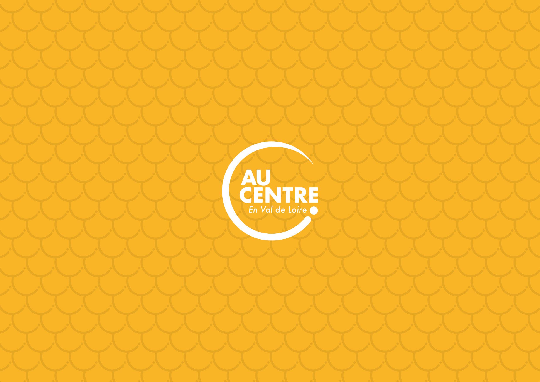 Logo Au Centre sur fond texturé