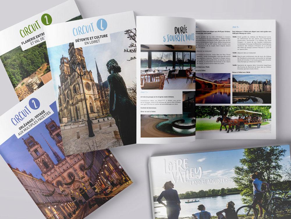 Boite brochure packaging présentation documents Tourisme Loiret