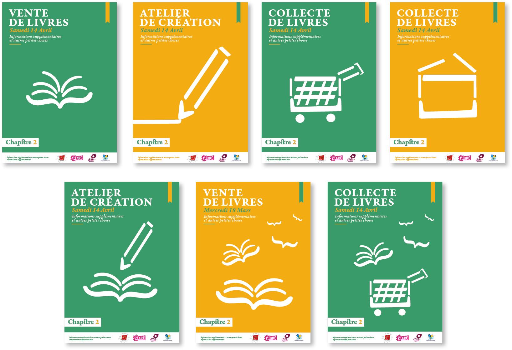 affiche et jeux typographique pour l'association chapitre 2