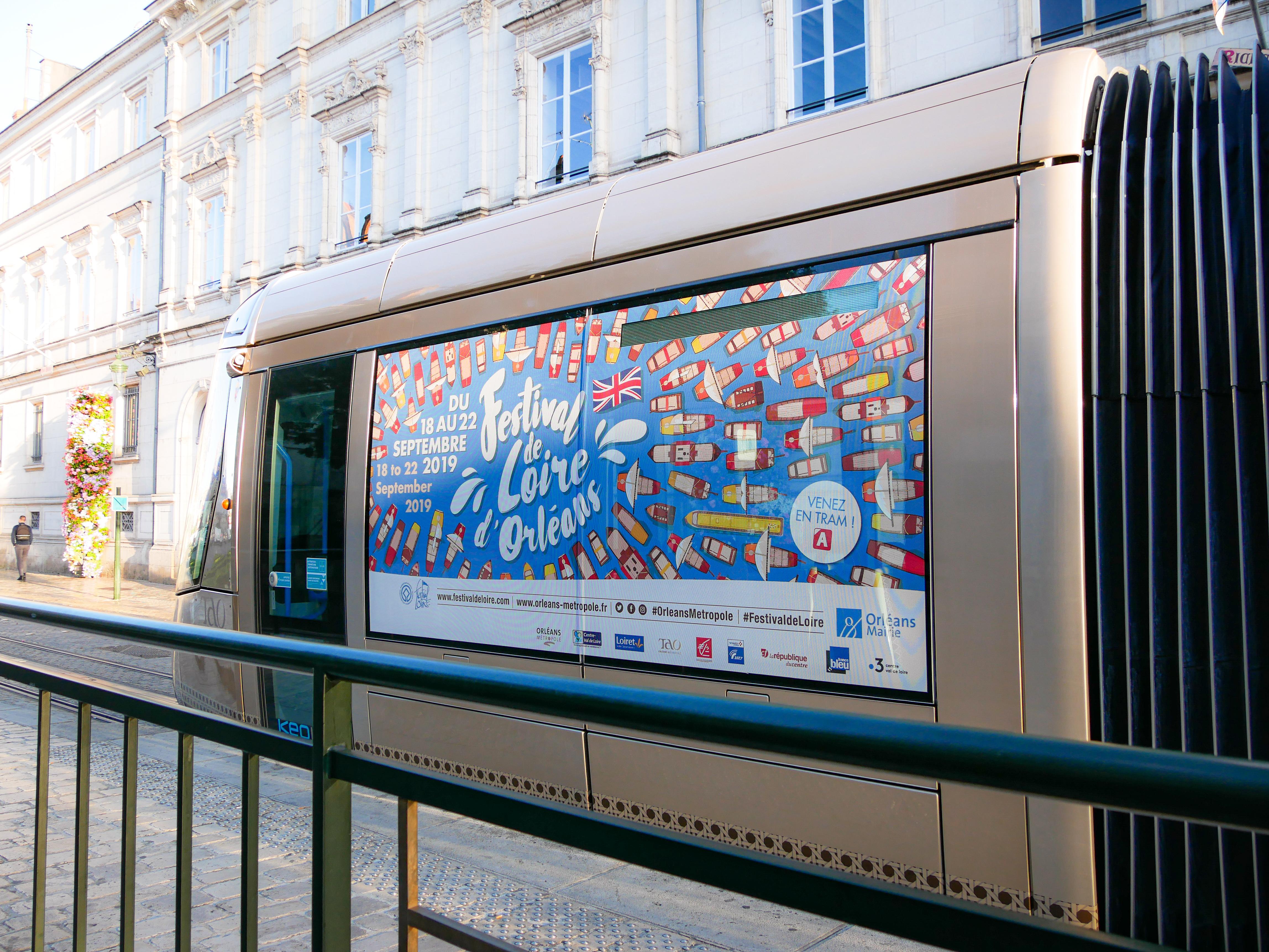 Communication globale du festival de Loire d'Orléans 2019