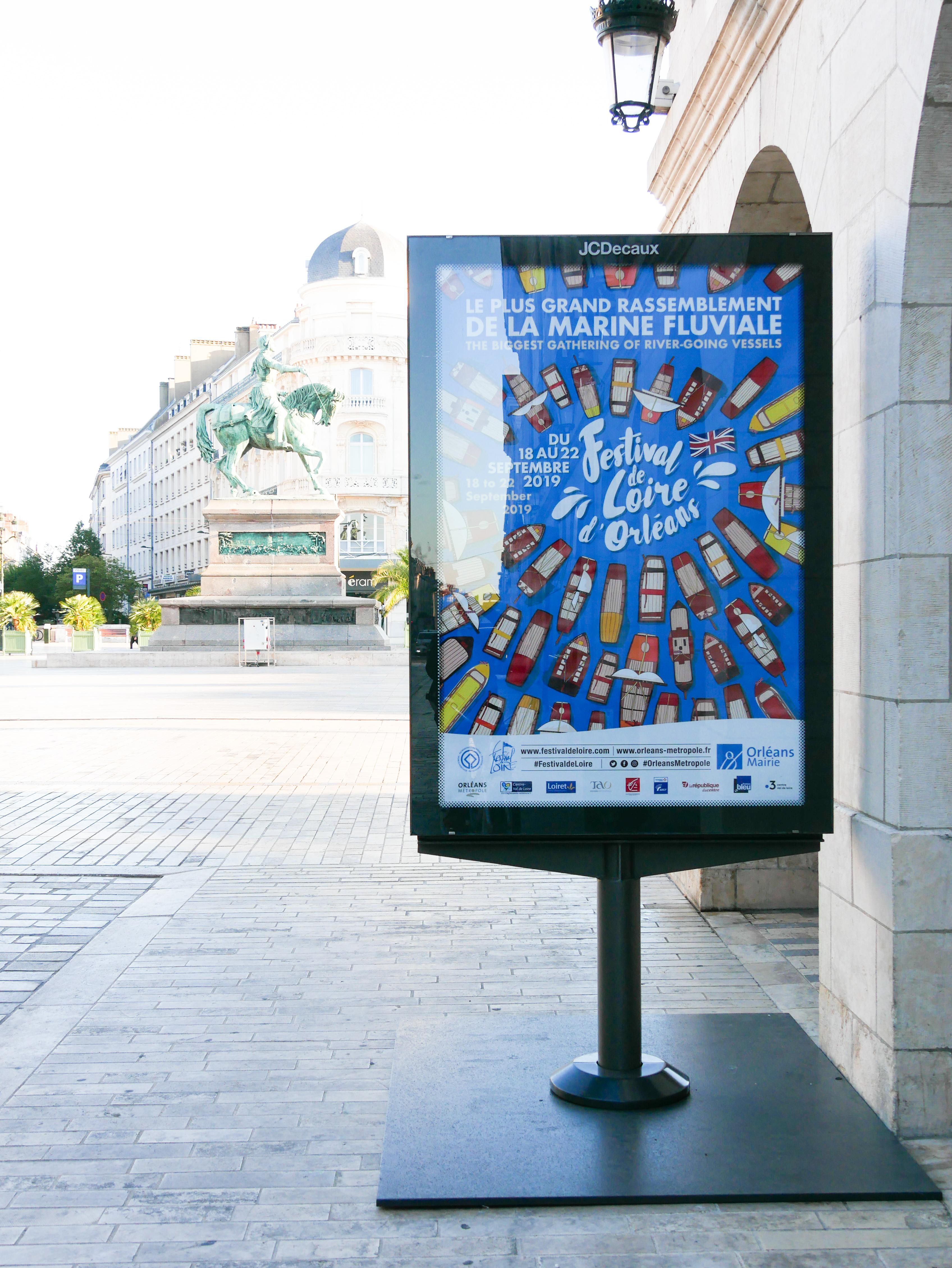 Affiche des fêtes de Loire d'orléans 2019 par l'agence créative des Monstres