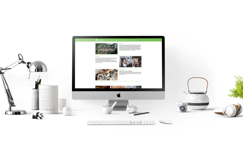 creation de site internet pour le domaine clos vallière avec du web design
