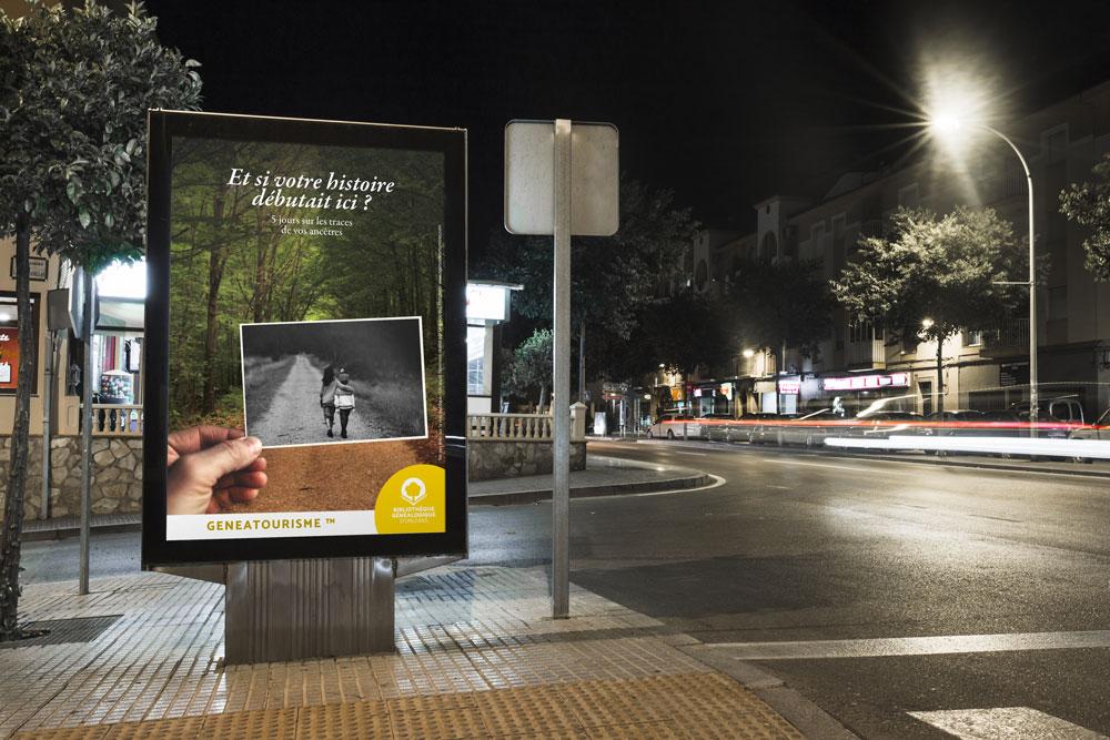 Campagne de communication bibliothèque généalogique d'Orléans