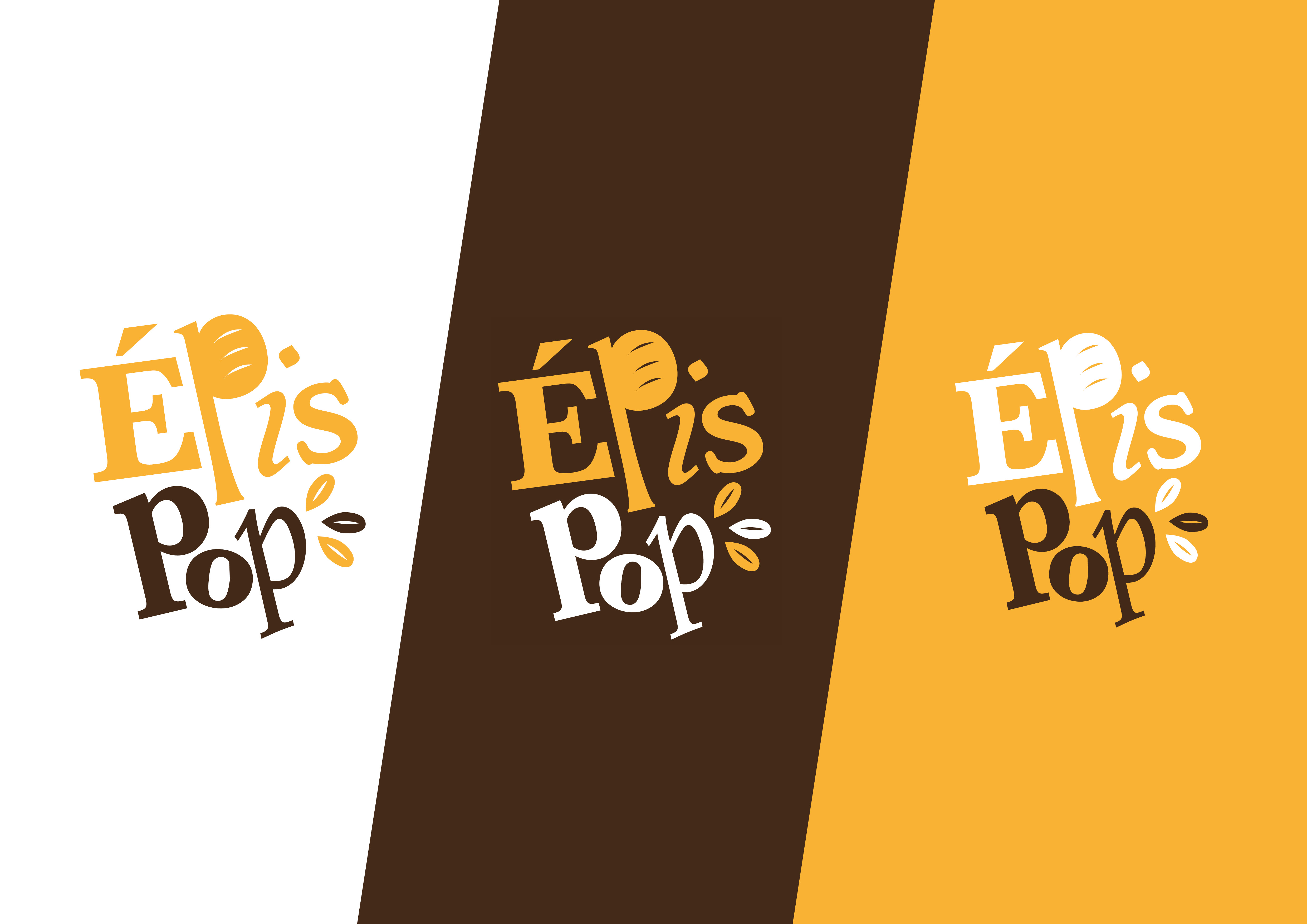 logo epis pop pour une boulangerie bio et engagée