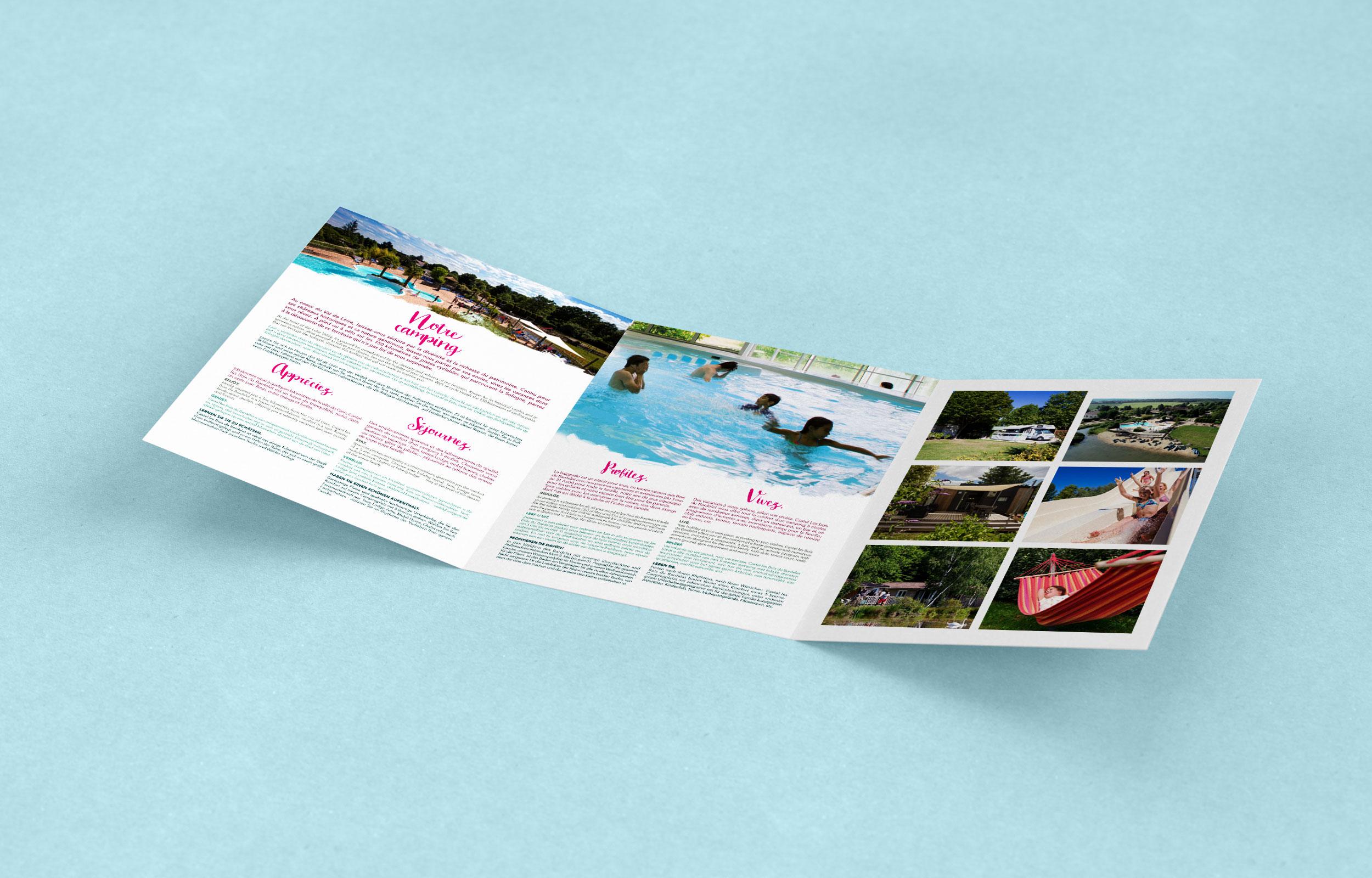 brochure mise en page par l'agence des monstres du bois du bardelet.