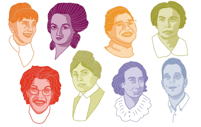 panneau d'exposition pour le Cezer d'Orléans à l'occastion de la journée internationale du droit des femmes