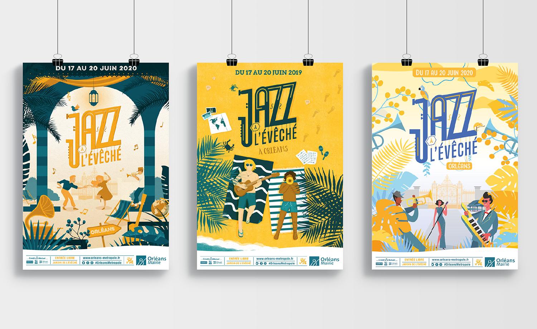 Affiche Jazz à L'évéché