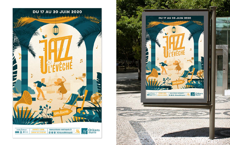 affiche Jazz à l'evéché à orléans