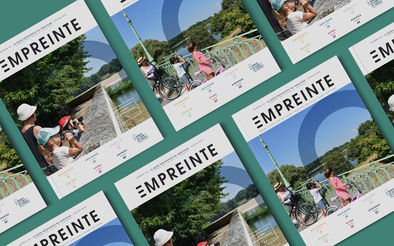 brochure de l'office de tourisme terre de loire et canaux. Couveture