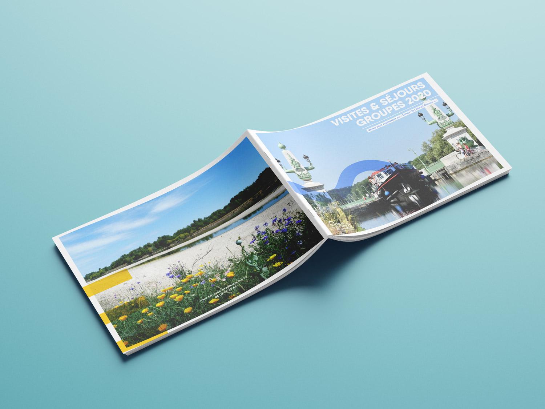mise en page de la brochure de séjour groupes