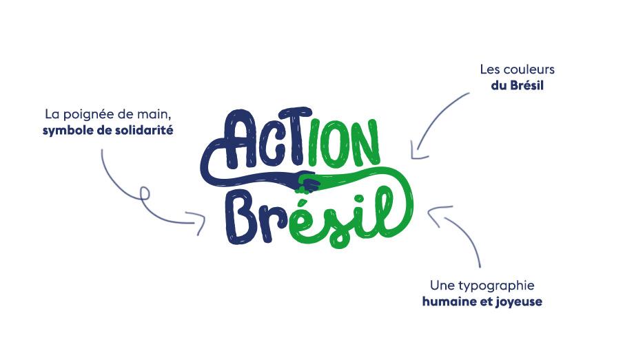 Explication du logo action Brésil réalisé par l'agence des monstres à Orléans