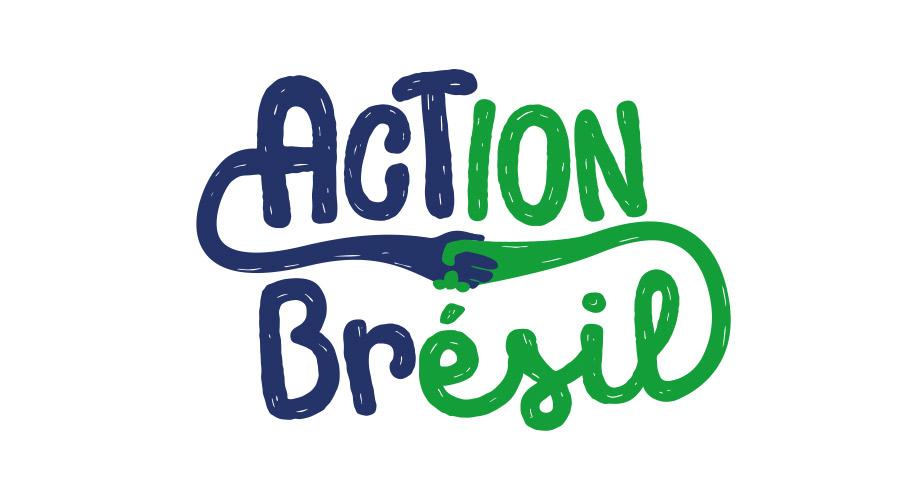 Logo de l'association action Brésil créer par Pierre Kerrien réalisé par l'agence des monstres à Olréans