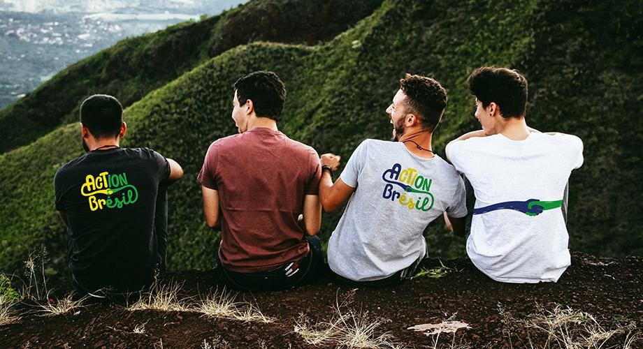 Mise en situation sur teeshirt du logo de l'association action Brésil
